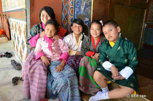 Familie in Bhutan