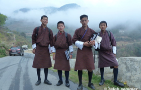 Studenten in Mongar