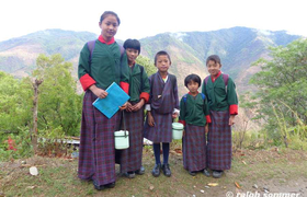 Schulkinder in Bhutan