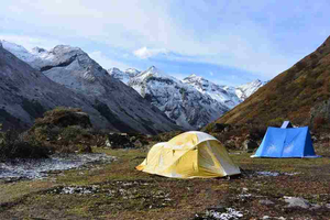 Trekking Camp in Bhutan