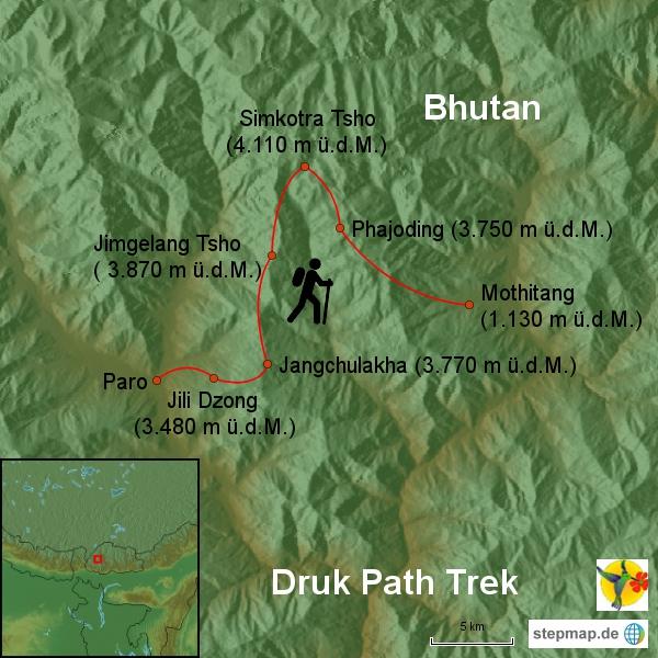 Druk Path Trek 5 Tage